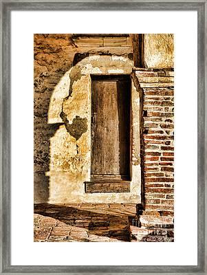 Arched Shadow By Diana Sainz Framed Print