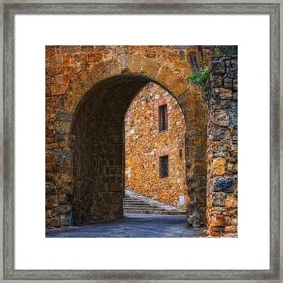Arched Stone With Staircase Framed Print