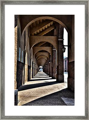 Arched Walkway At Franklin Field Framed Print by Bill Cannon