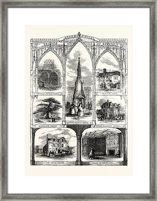 Archeological Relics At Enfield Remains Of The Old Church Framed Print