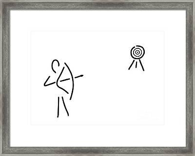 Archer Bent Arrow Framed Print by Lineamentum