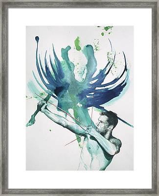Archer Framed Print by Rene Capone