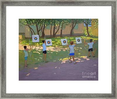 Archery Practice  France Framed Print by Andrew Macara