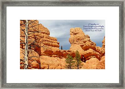Arches 2 Tim 4-7 Framed Print