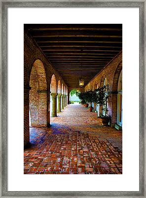 Arches And Bricks Framed Print