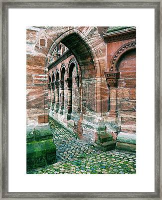 Arches And Cobblestone Framed Print