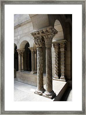Arches And Columns - Cloister Nyc Framed Print by Christiane Schulze Art And Photography