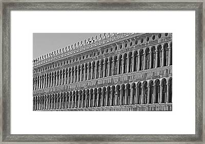 Arches And Columns In Piazza San Marco Framed Print