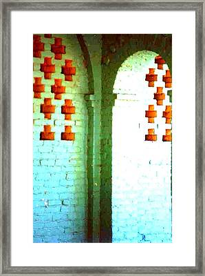 Framed Print featuring the photograph Arches And Crosses New Orleans Louisiana Usa by Michael Hoard