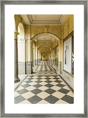 Arches And Squares Framed Print