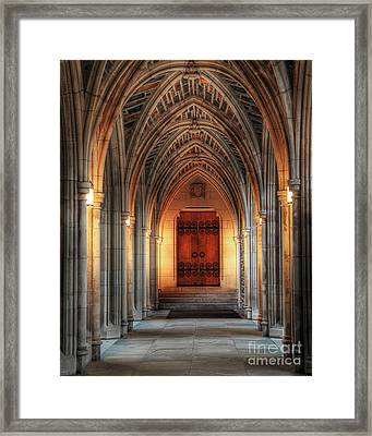 Arches At Duke Chapel Framed Print