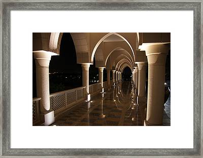 Arches In Abu Dhabi Framed Print