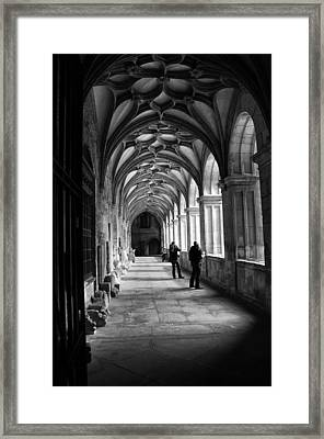 Arches In Leon Spain Framed Print by Tom Bell