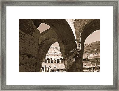 Arches In The Colosseum Framed Print