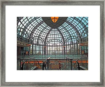 Arches Iron And Glass Framed Print by Barbara McDevitt