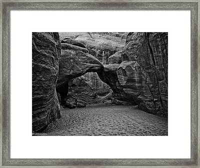 Arches National Park Black And White Framed Print by Bob and Nadine Johnston