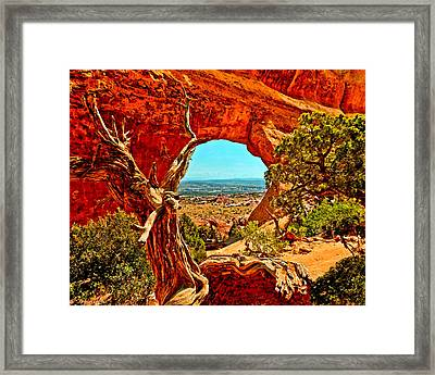 Arches National Park Framed Print by Bob and Nadine Johnston