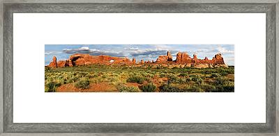 Arches National Park Panorama Framed Print