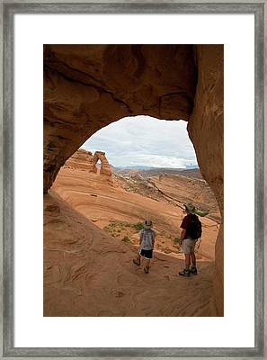 Arches National Park Tourism Framed Print by Jim West
