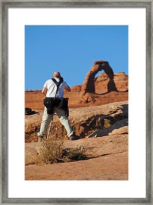 Framed Print featuring the photograph Arches Np 27 by Jeff Brunton