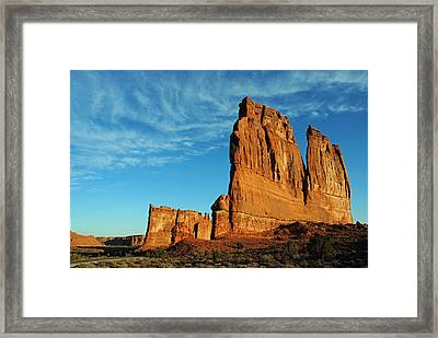 Framed Print featuring the photograph Arches National Park 47 by Jeff Brunton