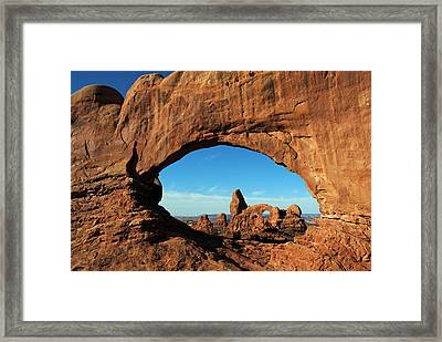 Framed Print featuring the photograph Arches National Park 61 by Jeff Brunton