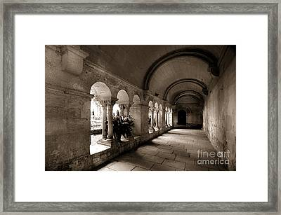 Arches Of An Old Building Framed Print
