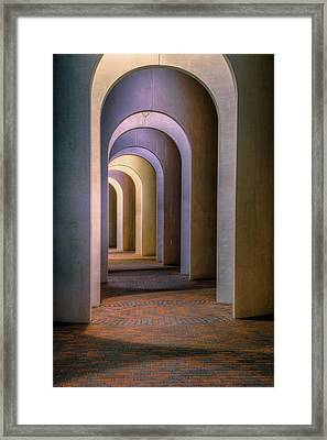 Arches Of The Ferguson Center Framed Print by Jerry Gammon