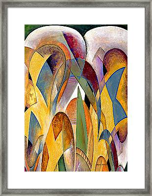 Framed Print featuring the mixed media Arches by Rafael Salazar