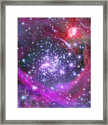 Arches Supermassive Star Cluster Framed Print by Science Source