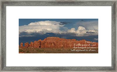 Arches Titus 2-11 Framed Print