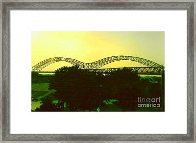 Arches Towards Little Rock And Memphis Framed Print by Michael Hoard