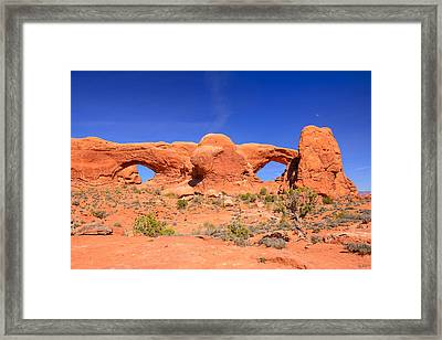 Arches Windows Framed Print by Greg Norrell