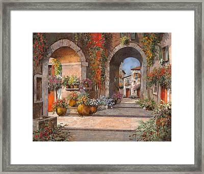 Archi E Sotoportego Framed Print by Guido Borelli