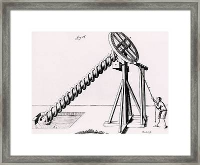 Archimedean Screw Framed Print by Universal History Archive/uig
