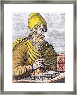 Archimedes Framed Print by French School