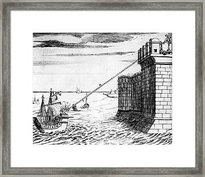 Archimedes' Burning Mirror Framed Print by Universal History Archive/uig