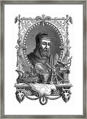 Archimedes Framed Print by Universal History Archive/uig
