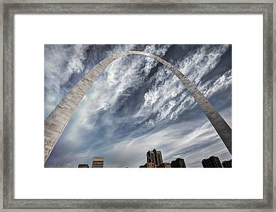 Arching Over St. Louis Framed Print by Gregory Ballos