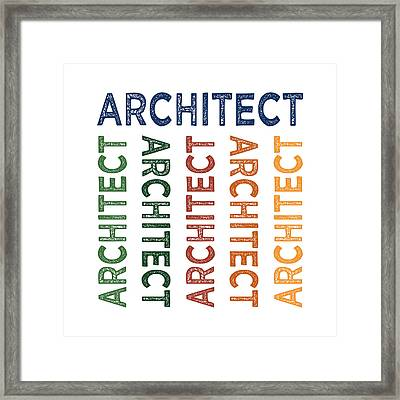 Architect Cute Colorful Framed Print by Flo Karp