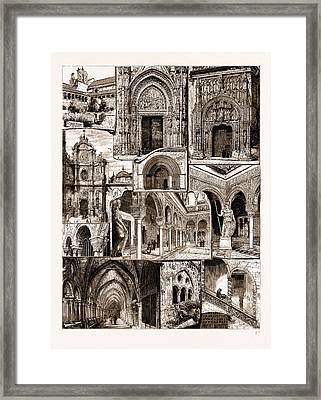 Architectural Art In Spain, 1883 1. Ancient Convent Of San Framed Print by Litz Collection