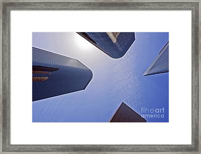Architectural Bunker Hill Financial District Framed Print by David Zanzinger