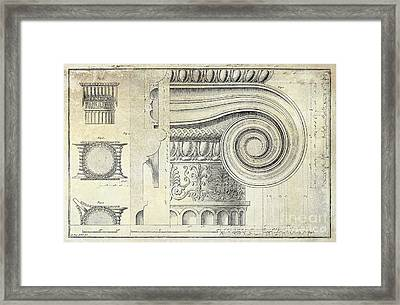 Architectural Capital Framed Print by Jon Neidert
