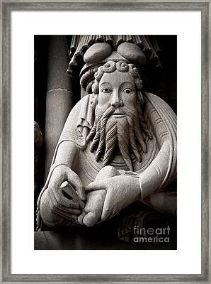 Architectural Detail Carnegie Mellon University Framed Print by Amy Cicconi