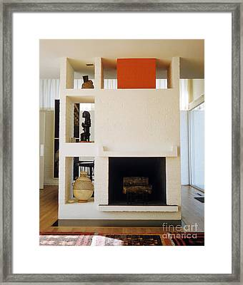 Architectural Detail Of Casa Sert 1958 Framed Print