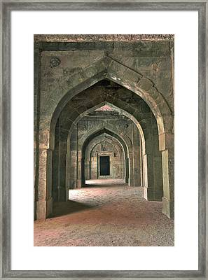 Architectural Details, Bara Gumbad Framed Print by Adam Jones