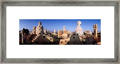 Architectural Details Of Rooftop Framed Print