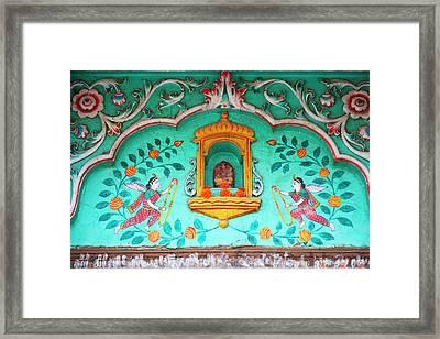 Architectural Details, Varanasi, India Framed Print by Keren Su