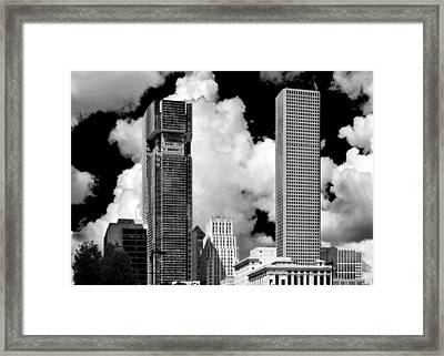 Architectural Diversity Houston Tx Framed Print by Christine Till