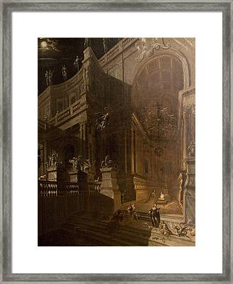 Architectural Fantasy With Figures Framed Print by Stefano Orlandi